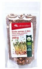 Zdravý den Směs semen na klíčení 3 BIO 200 g - cizrna, čočka, pískavice