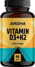 Aroha Vitamin D3+K2 90 tablet