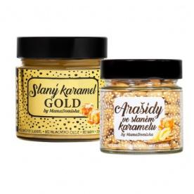Big Boy Slaný karamel GOLD 250 g + Arašídy ve slaném karamelu 130 g @mamadomisha