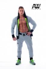 Nebbia Aesthetic Warrior mikina se zipem a kapucí 107 šedá