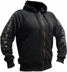 Nebbia Fitness mikina se zipem a kapucí 790 černá