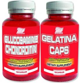 ATP Glukosamin Chondroitin 100 kapslí + Gelatina 100 tablet za zvýhodněnou cenu