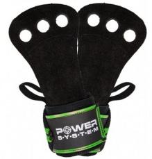 Power System Mozolníky Crossfit Grips - černá+zelená L