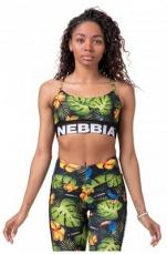 Nebbia Earth Powered sportovní podprsenka Jungle Green 565