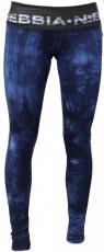 Nebbia Dámské elastické fitness legíny Batika 836 modré