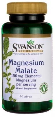 Swanson Magnesium Malate (hořčík malát) 150 mg elementárního hořčíku 60 tablet