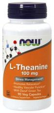 Now Foods L-Theanine 100 mg 90 kapslí