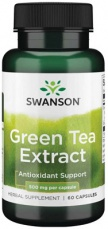 Swanson Green Tea Extrakt 60 kapslí