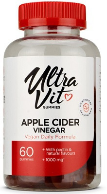 UltraVit Gummies Apple Cider Vinegar (Jablečný ocet) 60 želé bonbónů