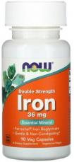 Now Foods Iron Ferrochel (železo chelát) 36 mg 90 kapslí