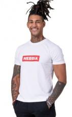 Nebbia Pánské tričko Nebbia Basic 593 bílá