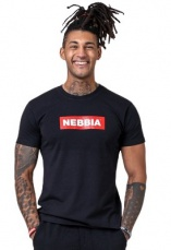 Nebbia Pánské tričko Nebbia Basic 593 černá