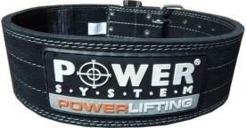 POWER SYSTEM Fitness opasek POWERLIFTING 3800 černý
