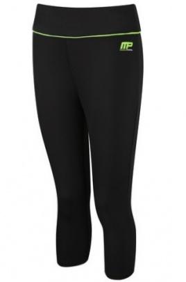 MusclePharm 427 Dámské legíny capri černo/zelené DOPRODEJ