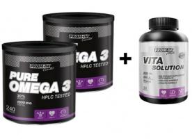 2x Prom-in Pure Omega 3 240 kapslí + Prom-in Vita Solution 60 tablet ZDARMA