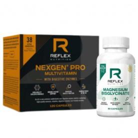 Reflex Nexgen PRO Digestive Enzymes 120 kapslí + Magnesium Bisglycinate 90 kapslí ZDARMA