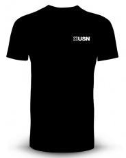 USN Pánské tričko černé s bílým logem