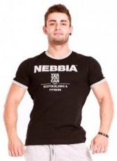 Nebbia Fitness Top krátký 983 černý DOPRODEJ