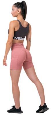 Nebbia Smart Zip sportovní podprsenka 578 marron