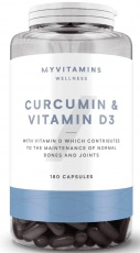 Myprotein Curcumin (Kurkumin) & vitamin D3 60 kapslí