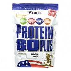 Weider Protein 80 Plus 500 g - banán VÝPRODEJ (POŠK.OBAL)