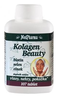 MedPharma Kolagen Beauty Biotin, Selen, Zinek 107 tablet