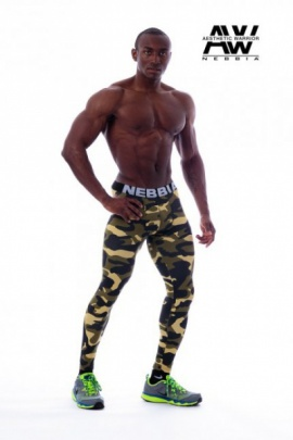 Nebbia Aesthetic Warrior Camo Green Legíny 115