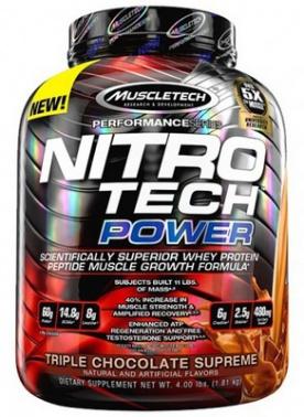 MuscleTech Nitro-Tech Power 1800 g + Vapor 1 Pre-Workout 95 g ZDARMA