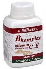 MedPharma B-komplex + vitamin C + vitamin E 67 tablet