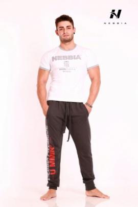 Nebbia Fitness Top krátký 983 bílý