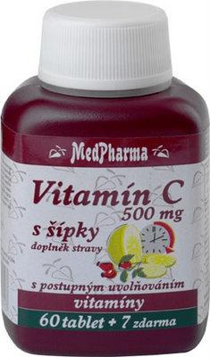 MedPharma Vitamin C 500mg s šípky 67 tablet