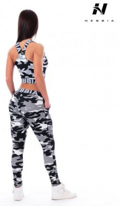 Nebbia Rough Camo Black Tílko 205
