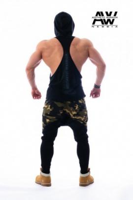 Nebbia Aesthetic Warrior tílko kapuca 124 černé