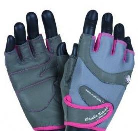 Mad Max rukavice Klaudia No.93 šedo/růžové