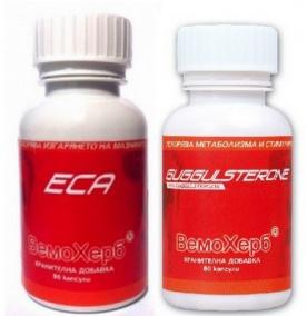 VemoHerb ECA 90 kapslí + Guggulsterone 60 kapslí AKCE