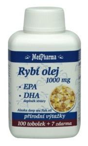 MedPharma Rybí olej 1000mg + EPA + DHA 107 tobolek