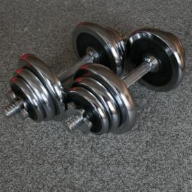 Činky jednoruční chrom 2x10kg