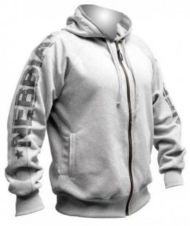 Nebbia Fitness mikina se zipem a kapucí 790 šedá - XL