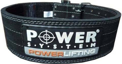 POWER SYSTEM Fitness opasek POWERLIFTING 3800 černý - M