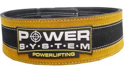 Power System Fitness opasek Stronglift - žlutý L/XL