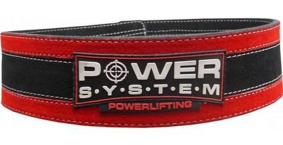 Power System Fitness opasek Stronglift - červený S/M