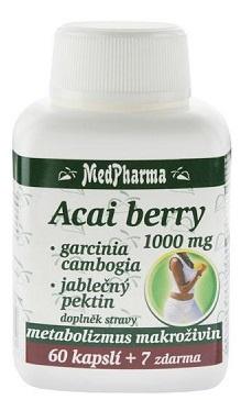 MedPharma Acai berry 1000 mg + garcinia cambogia + jablečný pektin 67 kapslí