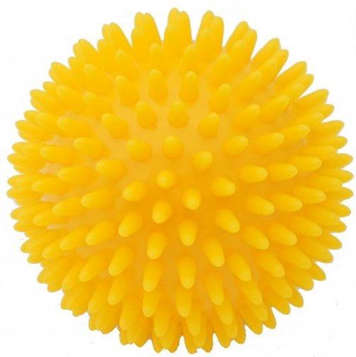 Kine-MAX masážní míček ježek 9cm - žlutá