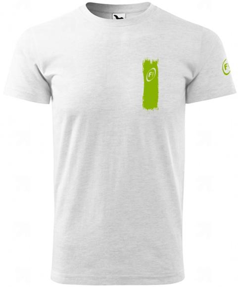 Levně Fitness007 Pánské tričko světlé šedé #musíšfurt - M
