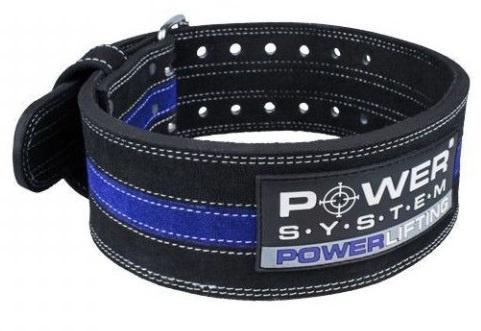 POWER SYSTEM Fitness opasek POWERLIFTING 3800 modrý - XXL