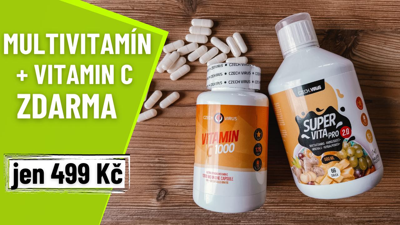 Czech Virus SuperVita PRO V2.0 500 ml + Vitamín C 1000 mg ZDARMA
