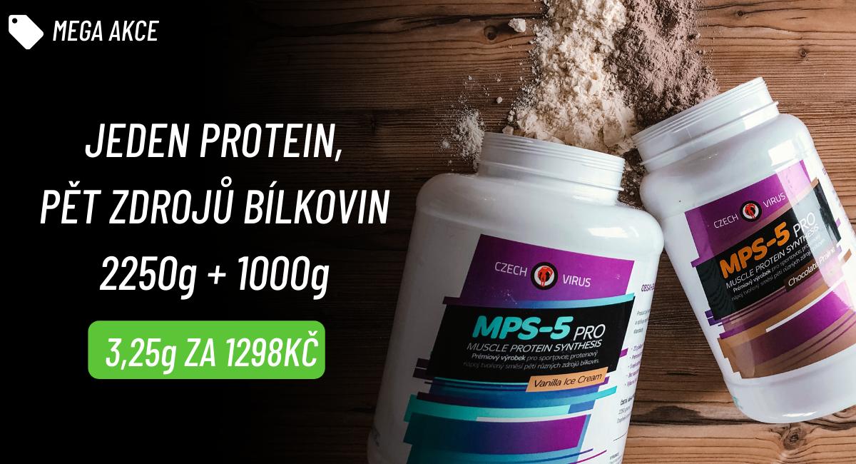 Czech Virus Vícesložkový protein MPS-5 PRO 2250g + 1000g AKCE