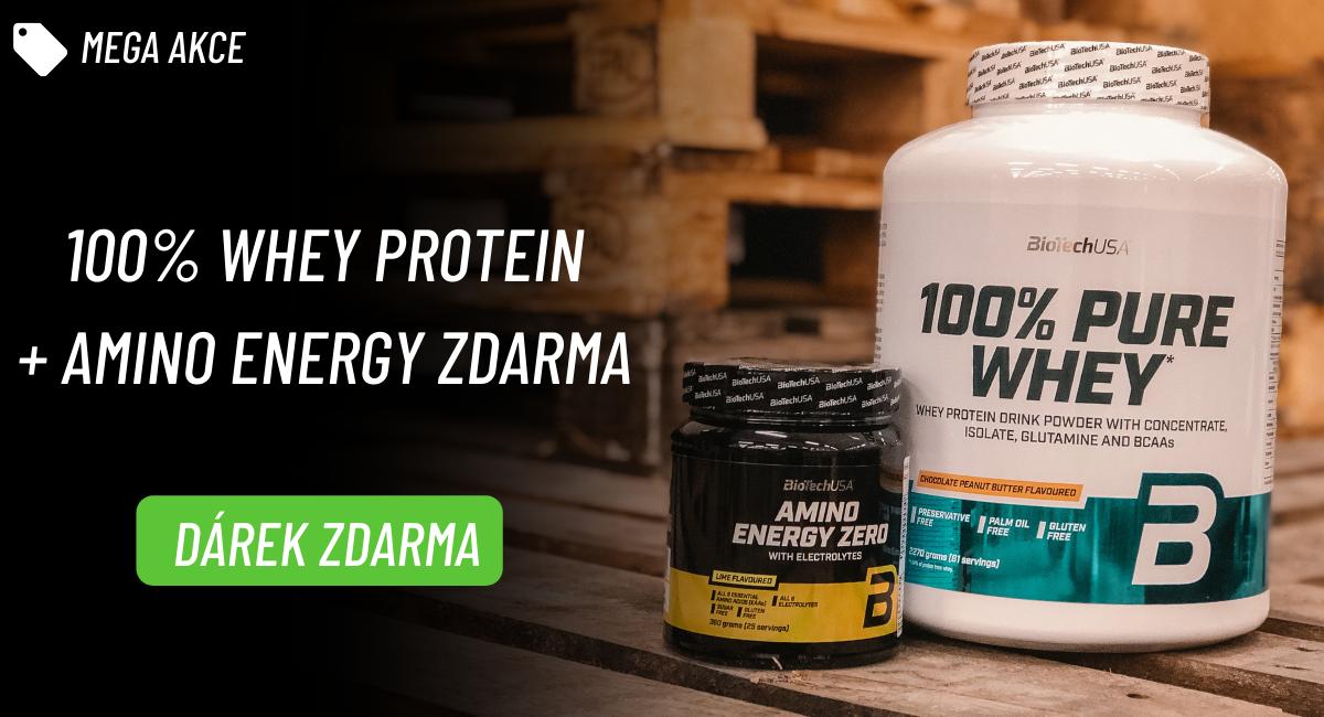 BioTechUSA 100% Pure Whey 2270 g + Amino Energy Zero 360 g ZDARMA