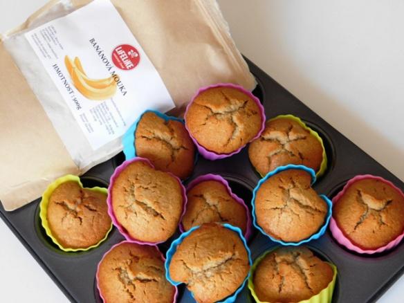 Kokosovo-medové muffiny z banánové mouky pro doplnění energie