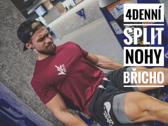 Trénink C Nohy a břicho. 4 denní Split nejlepších cviků pro budování svalové hmoty.